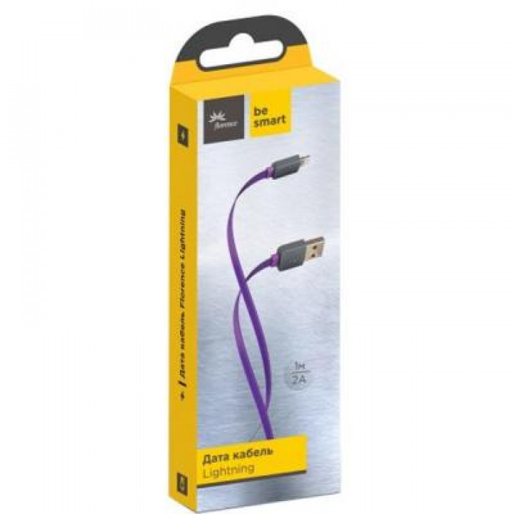 Дата кабель USB 2.0 AM to Lightning 1.0m Color Purple Florence (FDC-L1-2P)